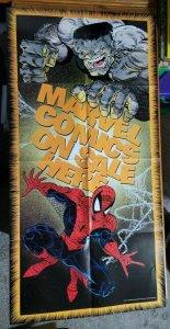 LARGE 48 x 24 Marvel Comics On Sale Here Dealer Promo Poster Spider-Man Hulk