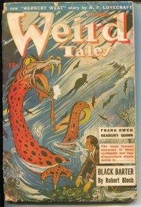Weird Tales 9/1943- Herbert West- HP Lovecraft-Seabury Quinn-pulp horror