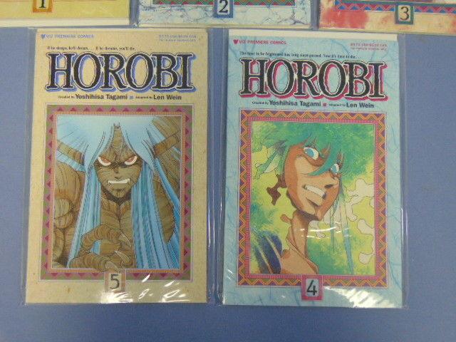 Horobi Viz Premiere Comics Manga Books #1 to #5 Yoshihisa Tagami Len Wein MINT!