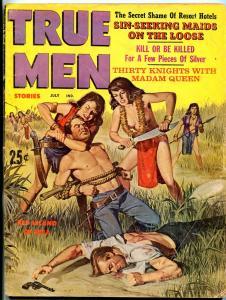 True Men Magazine July 1962-TORTURE CVR-BRUTAL MURDER PIX-CIVIL WAR VG