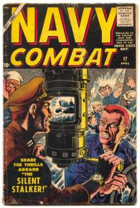 Navy Combat #17 1958- Atlas comics- Maneely cover- Nazi sub cover G/VG