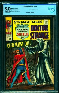 Strange Tales #154 CBCS VF/NM 9.0 Off White to White