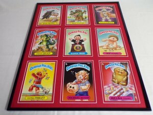 Garbage Pail Kids Framed 16x20 Display Rappin Ron Ultra Violet Fryin Ryan