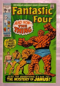FANTASTIC FOUR #107 1971-THE TORCH-THING TRANSFORMATION VG/FN