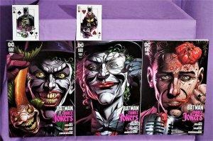 Geoff Johns BATMAN THREE JOKERS #1 - 3 F Jason Fabok Variant Covers (DC, 2020)!