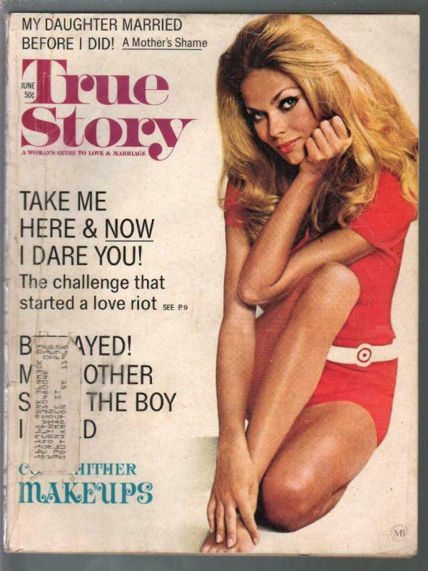 True Story 6/1972-exploitation-scandal-pin-up girl cover-VG