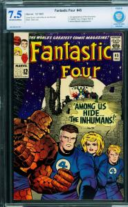 Fantastic Four #45-cbcs 7.5-First Inhumans-Key Marvel Issue