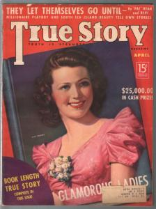True Story 4/1938-Jean Rogers-scandal-exploitation-comic art-pulp thrills-VG