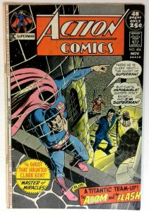 Action #406 DC 1971 FN Bronze Age Comic Book Giant Issue Superman 1st Print