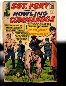 Sgt. Fury & His Howling Commandos # 5 GD- Marvel Comic Book Silver Age J306