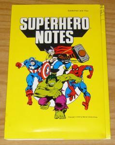 Superhero Notes: Spider-Man and Thor 1978 Stationary Set - envelopes & notes