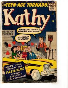 Kathy # 7 VG- 1960 Zenith Publishing Comic Book Archie Like Teenage J306