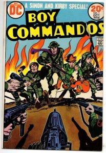 BOY COMMANDOS #1, FN, Jack Kirby, Joe Simon, 1973