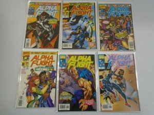 Alpha Flight lot 11 different from #2-13 avg 8.0 VF (1997-98 2nd Series)
