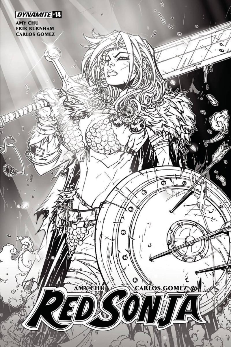 NM Dynamite, 2018 Red Sonja #14 Subscription Variant