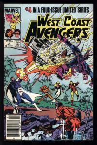 WEST COAST AVENGERS #4, VF+, Iron Man, Tigra, Wonder Man, 1984