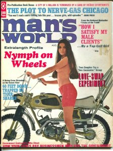 Man's World 8/1970-Atlas-Gil Cohen-Bruce Minney-cheesecake-pulp thrills-G/VG
