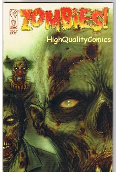 ZOMBIES FEAST #3, NM+. Horror, IDW, Walking Dead, 2006, more Zombies in store