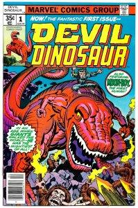 DEVIL DINOSAUR #1 (April 1978) 8.0 VF • Jack Kirby In the Age of Dinosaurs!