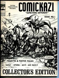 Comickazi #1 1969-1st issue-James Bama interview-Frazetta-Foster-Juanillo-FN
