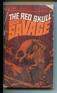 DOC SAVAGE-THE RED SKULL-#17-ROBESON-G- JAMES BAMA COVER-1ST EDITION G