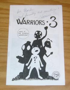 Warriors 3 #1 FN signed by vernon williams (creator) 2010 white ashcan size