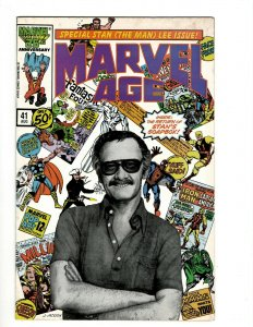 Marvel Age # 41 VF/NM Comic Book Classic Stan Lee Cover Image Avengers Hulk OF2