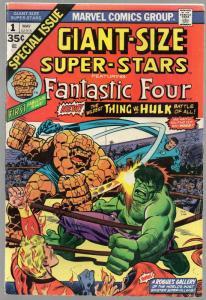 GS SUPER STARS 1 VG+ (FF) Hulk vs Thing May 1974