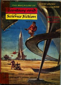 MAGAZINE OF FANTASY AND SCIENCE FICTION-May 1955-Science Fiction Pulp Thrills
