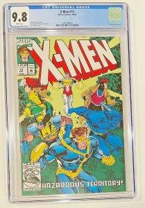 X-Men 13 Comic  CGC Graded 9.8  Fabian Nicieza story  Art Thibert Cover Art