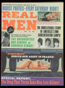 REAL MEN-MARCH 1967-CHEESECAKE-GOOD GIRL ART-ADVENTURE FN/VF