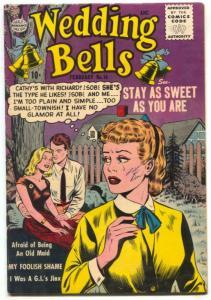 Wedding Bells #14 1956- Romance comic- OLD MAID- VG