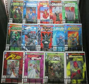 New 52 Future's End Lenticular Covers Lot of 14Diff Swamp Thing to Harley Quinn