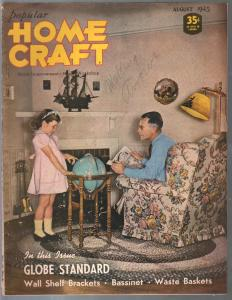 Popular Home Craft 8/1945-how to make things-pix-info WWII era-VG/FN