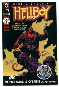 Hellboy: Seed of Destruction #1 1994-signed MIGNOLA & ADAMS