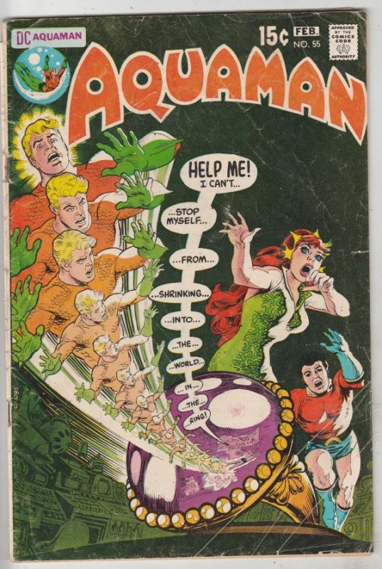 Aquaman #55 (Feb-71) VG Affordable-Grade Aquaman, Aqualad, Mira