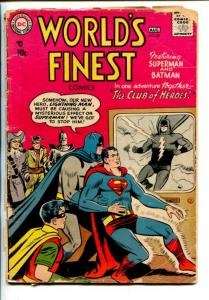 WORLD'S FINEST #89-1957-DC-BATMAN SUPERMAN-ROBIN-MR SINISTRO-fr