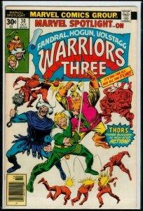 MARVEL SPOTLIGHT #30, FN, Warriors Three,Thor Buddies,Hogun, Volstagg, 1971 1976