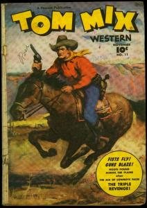 Tom Mix Western #11 1948- Fawcett Painted cover golden age comic G