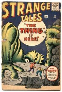 Strange Tales #79 1960- DR STRANGE PROTOTYPE- low grade