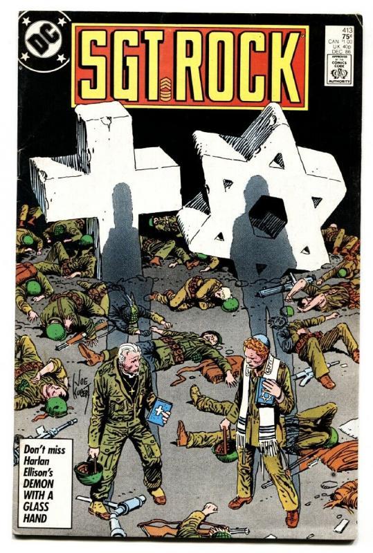 SGT. ROCK #413-1987-DC WAR-COPPER AGE-JOE KUBERT-VG/fn