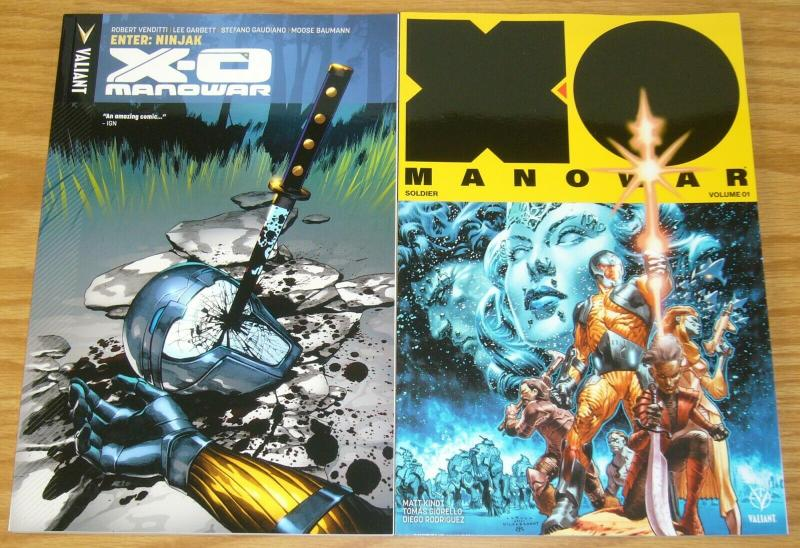 X-O Manowar TPB lot of (2) VF/NM enter ninjak - soldier - valiant ($24.98 value)