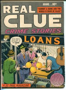 REAL CLUE CRIME STORIES VOL 3 #1 -1948-LINGERIE PANELS-LEONARD STARR ART-fn+