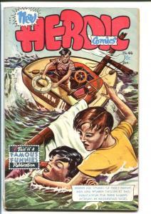 HEROIC COMICS #46 1948-SHIPWRECK COVER VG