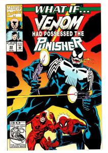 What If #44 comic book Venom possess Punisher-Marvel Comics. 1992
