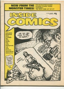 INSIDE COMICS #1-1974-GALAXY NEWS SERVICE-1ST ISSUE-R CRUMB-EARLY FANZINE-vf