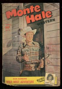 MONTE HALE WESTERN #45 1950-FAWCETT PHOTO COVER-GABBY H G