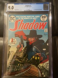 Shadow (1973) #1 CGC 9.0 Blue Label Of-White To White Pages 1st DC App Shadow
