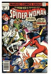 SPIDER-WOMAN #2 First Morgan Le Fey cameo comic book VF