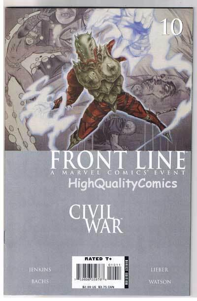 CIVIL WAR : FRONT LINE #10, NM-, Jenkins, Lieber, 2006, more War in store